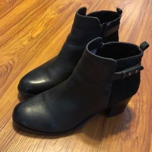 Sperry Top-sider Ambrose Ankle Booties Black SZ 9